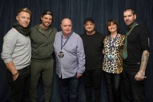 Wishaw woman has Boyzone reunion after meeting band during leukaemia diagnosis
