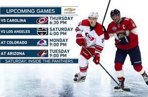 Panthers look to run win streak to 4 games with Hurricanes in town