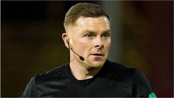 three arrested after abusive messages to old firm referee