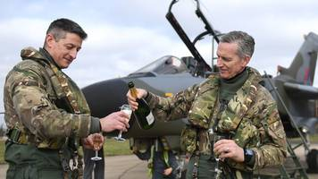 raf head in tornado tribute after series of flypasts