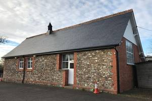 new roof for parish hall which was delayed by bats finally completed