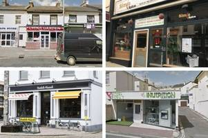 every devon restaurant with zero food hygiene rating as just eat announces new crackdown