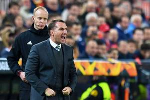 celtic boss brendan rodgers slams jeremy toljan red card and insists hoops should have had a free-kick