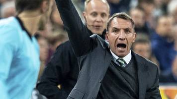 'the referee took it away from us' - rodgers says red card cost celtic