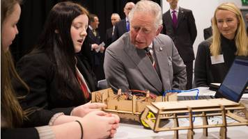 prince charles visits margam and neath youth and elderly projects