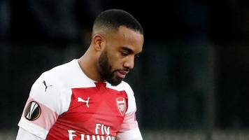 alexandre lacazette: arsenal striker suspended for europa league tie against rennes