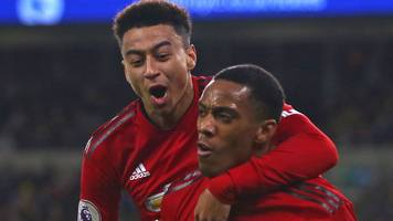 man utd: jesse lingard and anthony martial could face liverpool