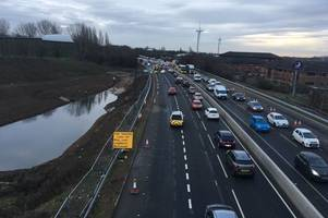 motorists warned as lane on a52 to be closed until next thursday
