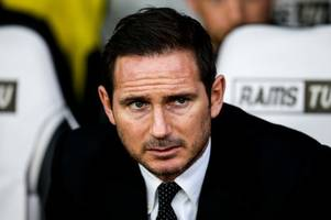 derby county boss frank lampard reacts to chelsea speculation; leeds united join west bromwich albion in transfer race; aston villa dealt huge blow