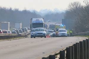 a12 traffic: woman injured in four-vehicle crash that closed road for several hours