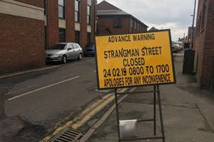 Town centre road closed this Sunday