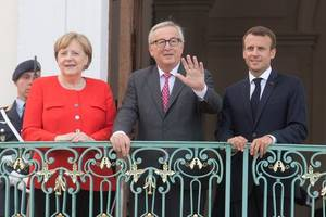 macron to receive merkel on february 27 for talks on brexit, u.s., defence