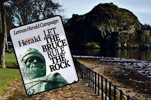 let the bruce rule the rock: sign our petition to have the king of scots immortalised here