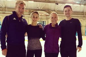scots skating star set to follow dancing on ice heroes torvill and dean