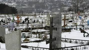 russian cemetery gang leaves widow with body out in cold