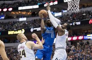 brunson with 22 points, dallas falls to denver 114-104
