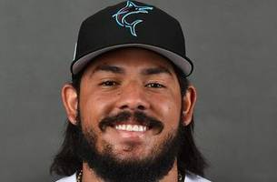 newly acquired marlins catcher jorge alfaro hurts knee chasing foul ball