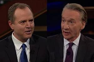 bill maher encourages adam schiff to 'get in' the fox news 'bubble' (video)