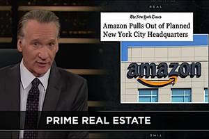bill maher shreds jeff bezos: 'stop playing cities' against each other in bid for amazon's new hq (video)