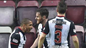 hearts 1-1 st mirren: sean clare own goal cancels out clevid dikamona opener