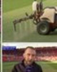 did you see what man utd sprayed on old trafford pitch before liverpool tie?
