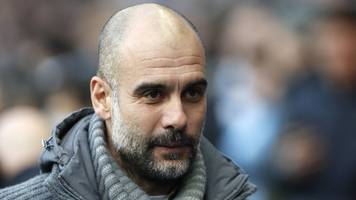 pep guardiola: manchester united win would be good for title race