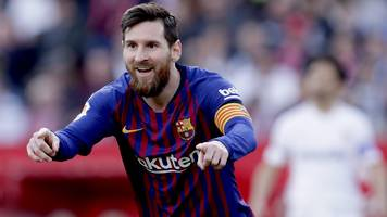 messi scores 50th hat-trick in barcelona win over sevilla