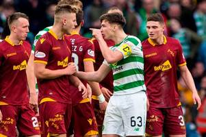 celtic star kieran tierney blasts motherwell over lack of respect after sneaky throw-in goal