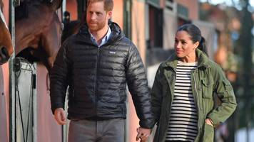 duke and duchess of sussex visit stables in morocco