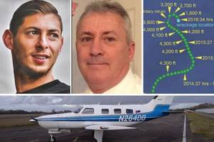 final moments of tragic flight carrying david ibbotson and emiliano sala revealed in official report