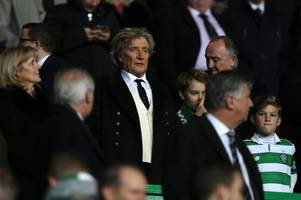 'i'd be on my knees telling him to stay' - celtic superfan rod stewart gutted brendan rodgers looks set for leicester city