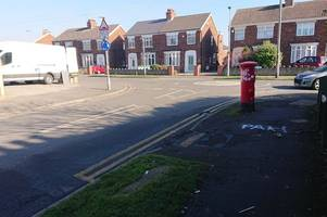 racist graffiti sprayed on scunthorpe pavement is branded 'disgusting' by residents