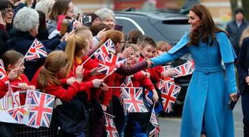 watch - prince william and kate welcomed by large crowds in ballymena