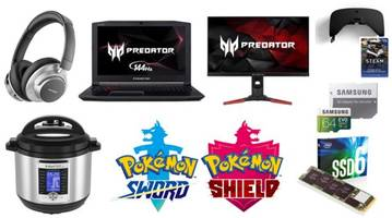 geek deals: pokemon sword and shield available for pre-order, vr-tek vr headset  for $30 with bonus gift card