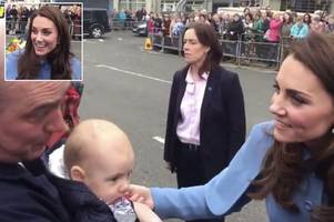 kate middleton admits 'i'm broody' at ballymena visit - but william is less keen