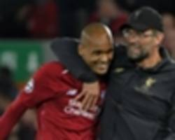 klopp: 'spectacular' fabinho growing into role at liverpool
