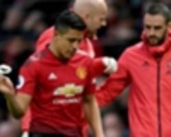sanchez off with knee problem as man utd injury woes mount