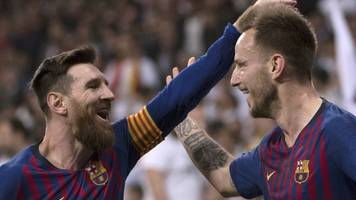 real madrid 0-1 barcelona: rakitic sends barca 10 points clear in la liga