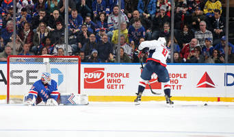 capitals beat rangers after alexandar georgiev throws stick to stop alex ovechkin penalty shot