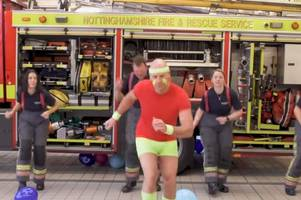the shorts are fabulous! people respond to fire and police service's 80s throwback charity video