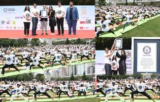 historic guinness world record in yoga made in hong kong