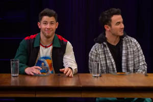 kevin jonas insults brother nick's solo music to avoid eating beetles (video)