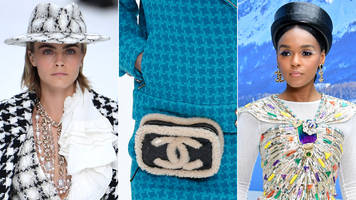 chanel showcases last lagerfeld collection at paris show