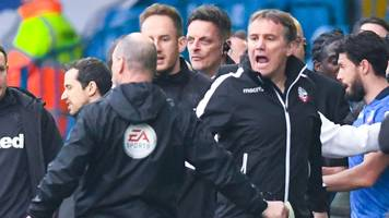 leeds and bolton fined while phil parkinson given two-game ban