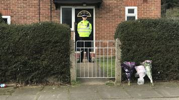 flowers left in ipswich after woman and child die