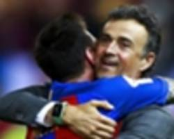 luis enrique reveals 'tension' with messi at barcelona