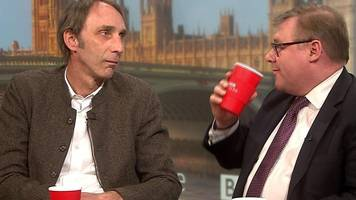 will self and mp in brexit tv stare-off