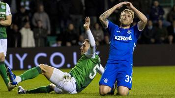 rangers 'not in title race' because of results like draw with hibs - gerrard