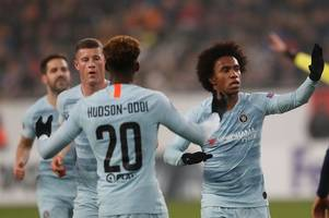 chelsea fans will love what willian has said about callum hudson-odoi after europa league goal