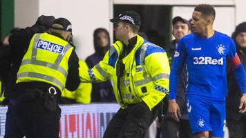 james tavernier: man arrested for confronting rangers captain